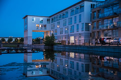 Reflection (Maria Eklind) Tags: skymmning summer malm water reflection twilight spegling architecture outdoor vstrahamnen turningtorso sky sweden skneln sverige se