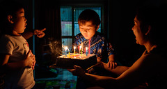 5 years old already... (Kantashoothailand) Tags: fujifilm xt10 xf1655mmf28rlmwr neighborkid  birthday availablelight moodandatmosphere happiness timestopenjoythemoment kids
