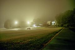 (Patrick J. McCormack) Tags: fuji gw690 kodak portra film 120 analog 6x9 fog mist night glow burlington street landscape urban desolate
