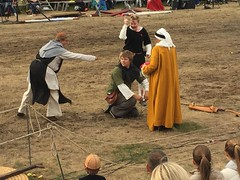 Robin Hood discovered by the Sheriff's men (radiowood) Tags: marion sweden gotland visby medieval robinhood