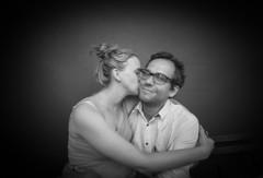 Alex&Sophia (nechegoskazat) Tags: pinhole blackandwhite bw people pairs portrait