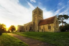 Church on the hill (d2francis2) Tags: church stlauds sherington buckinghamshire uk summer sunlight september religion christianity sunstar sony a7r landscape architecture f64g78r1win