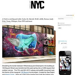 A Visit to #106Bayard with #cycle @drrevoltrtw #wolf1aok @futuradosmil #ladypink #team @chiplove1 @puretfp and more. Check it out on today's post on StreetArtNYC.org (LoisInWonderland) Tags: nyc streetart square graffiti cycle squareformat williamsburg publicart greenpoint streetartnyc iphoneography instagramapp uploaded:by=instagram chriscycle 106bayard