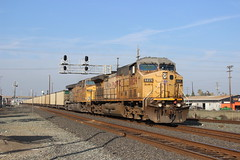 Union Pacific Coal Train in Stockton, CA (CaliforniaRailfan101 Photography) Tags: up ace amtrak unionpacific ge bnsf sanjoaquin acex emd stocktonca burlingtonnorthernsantafe altamontcommuterexpress gevo sd70m bnsfrailway gp60 es44ac ac44ccte ac4400cw gp50 c45accte p42dc ac4460cw es44ah f40ph3c ace49erspecial