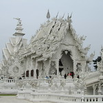 White Temple (Wat Rong Khun) on road North thumbnail