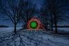 EMD #205 - Moonlight & Snow (Electrical Movements in the Dark) Tags: lightpainting lightart emd lapp lightartperformancephotography electricalmovementsithedark
