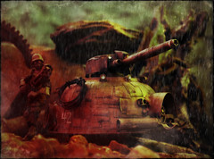 Instruments of Destruction (Ed Speir IV) Tags: world fiction trooper rain infantry last toy soldier toys war gun tank action assemblage destruction military acid wwiii wwii battle science line fantasy pollution weapon figure dio cannon scifi sciencefiction kit battlefield custom instruments import figures defense worldwar diorama weapons lau hover hovertank acidrain valero gatling mk1 lastlineofdefense kitlau oritoy valerobots warunderpollution agurtsinfantry agurts