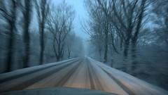 snow fast (Andrs Gyrgy) Tags: road snow lamp dark dawn snowfall lumia