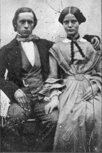 My great great grand-parents Wedding photo 1857