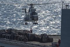 USS Comstock (LSD 45)_141120-N-CU914-069 (U.S. Naval Forces Central Command/U.S. Fifth Fleet) Tags: sea island exercise hawk flight navy lenny deck lacrosse platforms harrier makin certification av8b certex mh60 hooyah