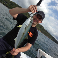 "Picture of Andy Wray with Kingfish • <a style=""font-size:0.8em;"" href=""http://www.flickr.com/photos/113772263@N05/15866145703/"" target=""_blank"">View on Flickr</a>"