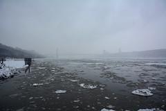 Icy Hudson - 5774 (rbs10025) Tags: nyc winter mist snow ice manhattan overcast hudsonriver inwood dyckmanstreet