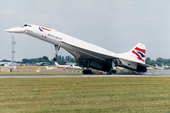 G-BOAF Arriving RIAT 97 (John Higgins (EF)) Tags: aircraft aviation airline concorde britishairways riat raffairford gboaf airlineindustry aviationphotography civilianaviation concorde102 bacsud