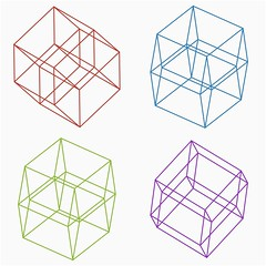 Viewpoints Matter (shonk) Tags: illustration design geometry math hypercube mathematica fourthdimension geometricart geometricdesign