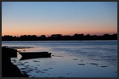 Belz (Morbihan) (mibric) Tags: sea mer bateau coucherdesoleil