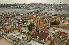 Istanbul - from Galata Tower (aaronmalonephotography) Tags: city tower architecture buildings turkey ancient nikon cityscape istanbul distance byzantine galata constantinople nikond7000