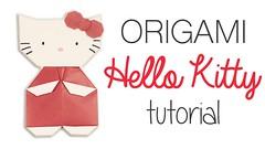 Origami Hello Kitty Tutorial (paperkawaii) Tags: origami instructions paperkawaii papercraft diy how video youtube tutorial