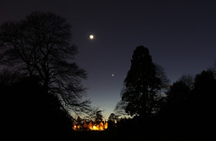 "Moon, Venus and Mars by LINTON GUISE • <a style=""font-size:0.8em;"" href=""http://www.flickr.com/photos/74627054@N08/16446430560/"" target=""_blank"">View on Flickr</a>"