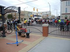 My Workstation at the Beginning (The Goat Whisperer) Tags: bridge bike bicycle club march ride anniversary alabama civil rights montgomery 50th selma edmund mbc pettus selma50ride