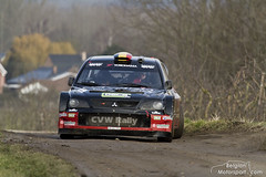 Mitsubishi Lancer WRC (belgian.motorsport) Tags: broken suspension rally rear wrc van lancer mitsubishi haspengouw 2015
