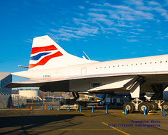 The Tail of the Museum of Flight's Concorde & the Morning Light (AvgeekJoe) Tags: seattle airplane aviation museumofflight concorde ba dslr britishairways sst jetliner seattlewa moff gboag themuseumofflight supersonictransport d5300 nikond5300 agf15