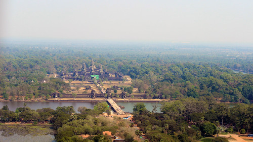 The gigantic Angkor Wat from distance and height (Chetra Chap, 2013).