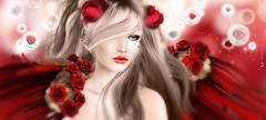 L   B H (AyE  g  T ) Tags: red love beauty angel rouge rojo colours amor digitalart sguardo fairy emotions mirada magical rosso artworks fantasyart artportrait