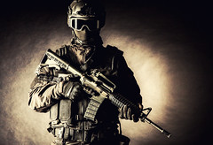 Spec ops police officer SWAT (zabielin) Tags: white infantry studio soldier army us war uniform gun ranger force