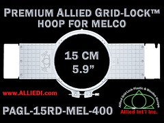 Melco Hoops - 15 cm (5.9 inch) Round Premium Allied Grid-Lock Plastic Embroidery Hoop / Frame for Melco Tubular Embroidery Machines - 400 mm (15.7 inch) Arm Spacing / Sew Field (alliedintl) Tags: hoop logo grid frames embroidery chest frame hoops left gridlock allied melco