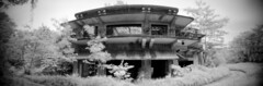 Creepy Abandoned Mansion (JamCanSing) Tags: blackandwhite panorama film singapore pinhole 120film spirits infrared ghosts ilford supernatural istana 6x17 r72 nearinfrared ghouls tyersall sfx200 720nm woodneuk hollandrd realitysosubtle