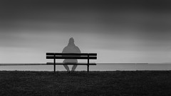 Sea View (Scott Baldock) Tags: winter sea seascape black art beach thames canon bench scott pier mod long exposure 10 jetty wwii fine atmosphere boom estuary stop filters essex southend shoeburyness hitech defence density 6d baldock formatt nuetral shoebury prostop