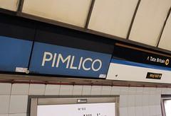Pimlico Underground station (bowroaduk) Tags: tube londonunderground londontransport