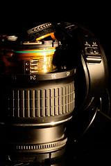 Oh Oh... (Alexander Adema) Tags: broken lens nikon electronica 1855mm f28 105mm objectief kapot d7100