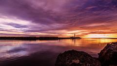 Sunrise (Amanclos) Tags: sunset sea wallpaper sun lighthouse seascape france water gold golden or aude goldenhour waterscape doré portlanouvelle sunsettime canonef2410514lisusm canoneos5dmarkiii