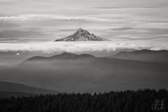 Mt. Hood (Joshua Johnston Photography) Tags: oregon pacificnorthwest pnw joshuajohnston mthoodnationalforest canon6d blackandwhite bnw landscapephotography nature mthood