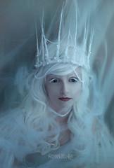 (anthropomorphia) Tags: blue snow white queen fairy handmade crown hotglue nikon themed depression beautiful portrait