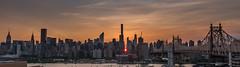 Manhattanhenge (Globalviewfinder) Tags: street new york nyc bridge sun building set river grid tyson state manhattan neil east queens physics chrysler manhattanhenge alignment 57th 59th emire degrasse