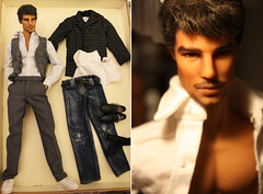 For Sale: Hunky Dreams Josh Hartnett Giftset 150usd - ON HOLD (em`lia) Tags: fashionroyalty fr homme male doll ken fashion clothes shoes ooak repaint emiliacouture