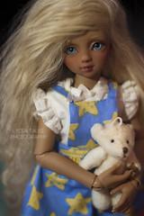 Dryeen Odago (Lydia Tausi Photography) Tags: cute canon dark 50mm doll child skin charlotte tan mohair blonde bjd abjd msd balljointeddoll eos500d lydiatausi saintbloom
