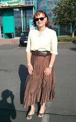 Einkaufsbummel (Marie-Christine.TV) Tags: summer girl lady pumps feminine skirt blouse tgirl transvestite bluse weiblich sandaletten mariechristine sommerrock