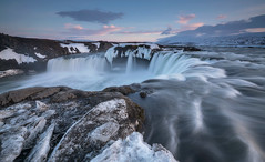 'Before The Plunge' - Godafoss, Iceland (Kristofer Williams) Tags: winter snow ice iceland godafoss