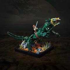 Boga - Obi-Wan's Varactyl (roΙΙi) Tags: starwars lego creature vignette obiwankenobi episode3 episodeiii boga obiwan kenobi utapau therevengeofthesith varactyl