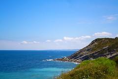 Sea (Amlie Kibler) Tags: sea summer mer love water blue sky ciel rocher caillou vacances beach rock france french atlantic pierre t espagne extrieur beautiful spain stone outside fleurs basque pays s