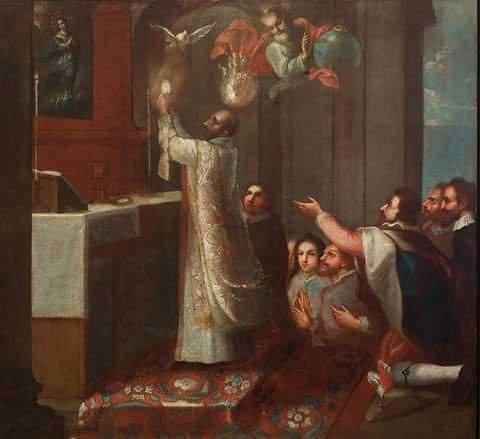 La Misa de Sn. Ignacio de Loyola, Miguel Cabrera, Museo Nacional del Virreinato, Tepozotlán, Edo. de México.