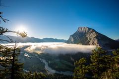 Mt. Rundle (V.Duplain) Tags: mount mountain mountains rundle banff alberta canada nature rock cloud inversion blue sky sunshine sun tree pine river bow shadow national park canon 6d 1740mm
