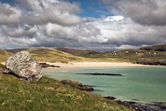 Oldshoremore Beach (3) (Teuchter Prof) Tags: oldshoremore oldshoremorebeach sand sandybeach turquoisewater clouds skyscape westcoast kinlochbervie northwestcoast sutherland scotland
