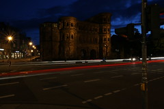 PortaNigra 007 (ollicrusoe) Tags: roman porta nigra trier trevis germany night available light trails