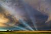 Anticrepuscular Rays (ryanmcginnisphoto) Tags: anticrepuscular rays sunset storm colorful whoa beamsoflight kansas