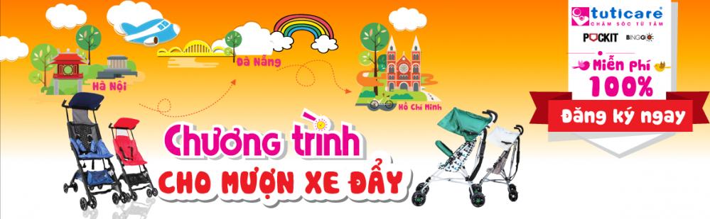 Chương trình cho mượn xe đẩy du lịch cho bé. Miễn Phí - An Toàn - Tiện Lợi.
