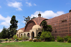 Botanical Building (Art By Pem Photography: Tao Of The Wandering Eye) Tags: fineartphotography canon canoneosrebelsl1 eos sl1 california southerncalifornia socal travel sandiego balboapark botanical structure architecture arch arches grass green blue sky pattern usa tree trees clouds scenery scenicsnotjustlandscapes